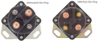 glow plug relay solenoid fits ford f series e series amp the wiring harness mould on our glow plug is made exactly the same look at your glow plug and compare it s the same the standard aftermarket unit is a