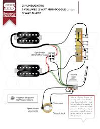 humbuckers seymour duncan part 10 2 Humbucker 1 Volume 1 Tone Wiring 2 hum, 1 volume, 2 way mini toggle coil split, 3 way blade 2 humbucker 1 volume 1 tone wiring diagram