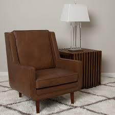 Leather Accent Chairs For Living Room Decorating With Tan Leather Furniture Awesome Idea Living Room