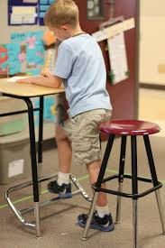 For home and classroom\u2014standing desks for kids. A Stand2Learn ...