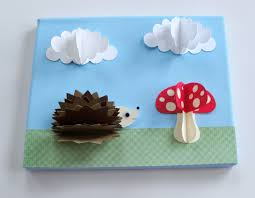 original hedgehog mushroom paper wall art goshandgolly tierra este