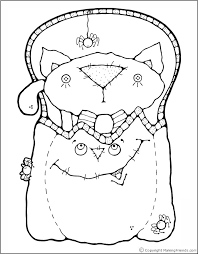 Small Picture Black Cat Coloring Pages Contegricom