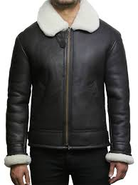 men s cream wool aviator b3 real shearling sheepskin leather er flying pilot jacket mark