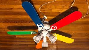 hampton bay carousel ii ceiling fan 44 primary colored blades