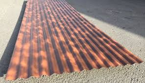 rust effect pvdf paint finish corrugated sheets