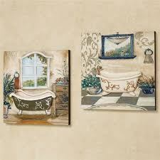 salle de bain wall art taupe set of two on bathroom wall art set with salle de bain bathroom wall art set
