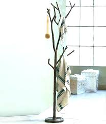 Coat Tree Rack Beauteous Pottery Barn Coat Racks M32 Entry Hall Tree Small Burnished Pine