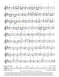 Harmony Notes Chart Violin Online Colorall Fingering Violin Sheet Music