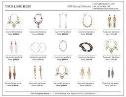 Wholesale Linesheet Template Line Sheet Template Product Brochure
