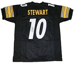 10 Signed Stewart Nfl Jsa Amazon's Black - At Sports Store Collectibles Certified Kordell Autographed Jerseys Jersey