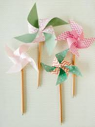 diy pencil paper pinwheels cute decorations for showers or other parties kid s plaything or plant stakes for potted plants