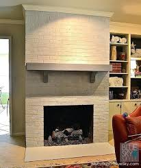 best paint for brick fireplace brick fireplace makeover is the best stacked stone fireplace is the