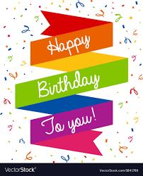 Happy Birthday Greeting Card Royalty Free Vector Image