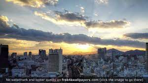 The Sun Sets Over Kobe Japan HD ...