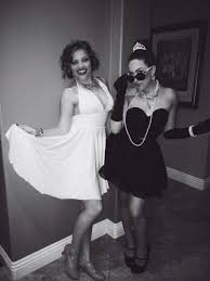 marilyn monroe and audrey hepburn costume for bestfriends