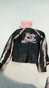 harley davidson women s leather jacket heavyweight leather with zip out cotton vest has reflective piping size small very attractive jacket for in