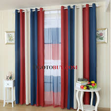 red stripe curtain panels thermal curtains loading zoom