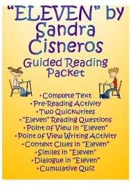 eleven sandra cisneros teaching resources teachers pay teachers  eleven by sandra cisneros guided reading unit
