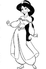 Printable Disney Princess Coloring Pages Jasmine 2136 Disney