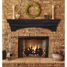 Pearl Mantels Shenandoah Traditional Fireplace Mantel Shelf Fireplace Mantel