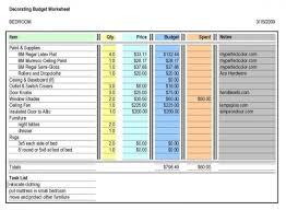 renovate decorate budget worksheet, budget bathroom remodel ...