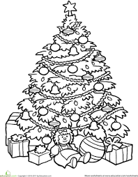 Small Picture Christmas Tree Coloring Page Worksheets Christmas tree and Holidays