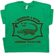 Gators Wrestling T Shirt Alligator Circus Vintage Crocodile Florida Louisiana Ebay