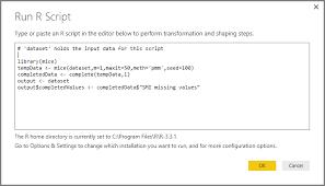 Sample Audit Program Delectable Using R In Power BI Query Editor Power BI Microsoft Docs