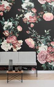 8 Dark Floral Wallpapers To Create A ...