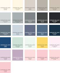 Sherwin Williams Color Chart Paint Color Palette Interior Design Ideas
