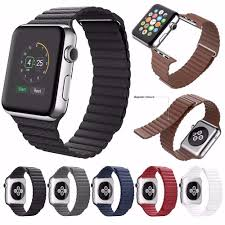 details about genuine leather loop magnetic loop watch band for apple watch 42mm 38mm