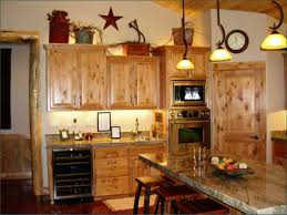 Kitchen Decor Themes Ideas Light Brown Rectangle Rustic Accents