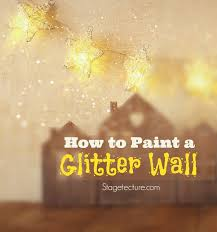 how to use glitter wall paint