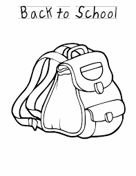 Small Picture Back to school backpack Free Printable Coloring Pages