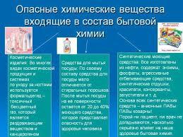 Влияние бытовой химии на экологию и здоровье человека Балаково  Опасные химические вещества входящие в состав бытовой химии