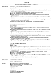 Resume Navigation Analyst Business Operations Resume Samples Velvet Jobs 87