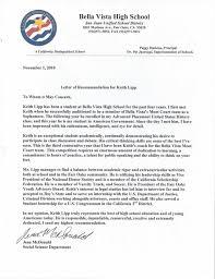 Letter Of Recommendation Teacher Ap U S History Teacher Letter Of Recommendation