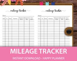 business mileage tracker items similar to mileage tracker form printable printable mileage