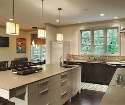 ... Dark Quartersawn Oak Cabinets With A Painted Kitchen Island ...