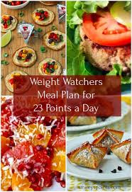 weight watchers meal plan for 23 points