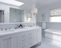 Beveled Subway Tile Backsplash With Marble Tile Classic Bathroom - Tile backsplash in bathroom