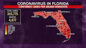 63) Florida has the most Covid-19 cases ...