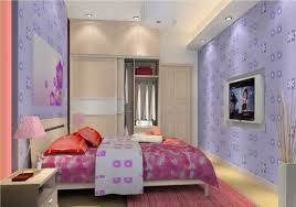 Purple Bedroom Wallpaper Purple Bedroom Wallpaper For Female Students 3d House