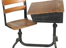 wooden school desk and chair. Vintage School Desk And Chair : EBTH Wooden