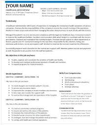 healthcare resume sample healthcare administration sample resume healthcare administration