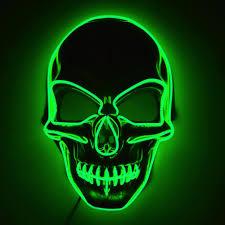 Light Up Mask Glowcity Light Up El Wire Skull Mask