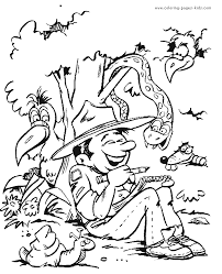 Scouting Color Page Coloring Pages For Kids Family People And