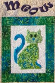 Cat's Meow quilt with machine embroidery, design by Lunch Box ... & Lunch Box Quilts:Shop | Category: NEW! | Product: Cat's Meow with Adamdwight.com
