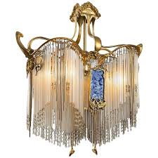 french art nouveau boudoir chandelier by hector guimard for