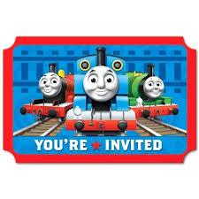 The Train Birthday Party Invitations Thomas Invitation Template